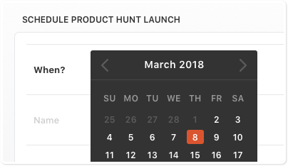Schedule Product Launch